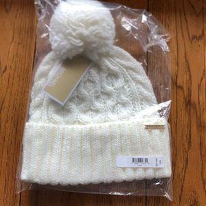 Michael Kors Pom Pom Hat White